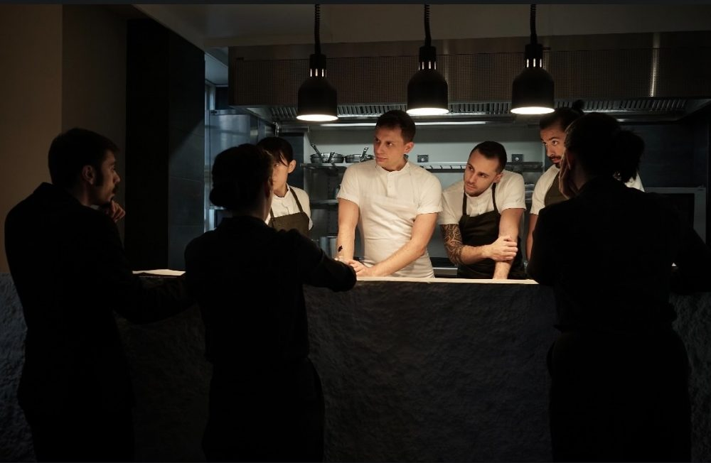 Nicola Fanetti in cucina a Brace Restaurant di Copenhagen