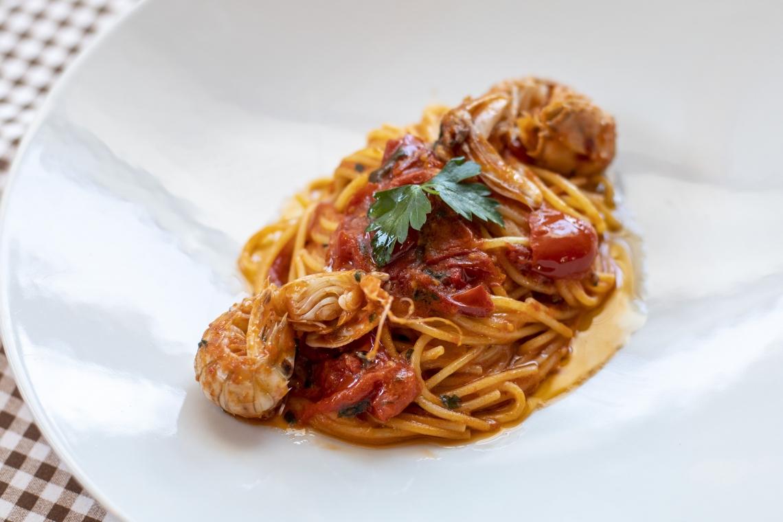 Spaghetti con gli scrifici