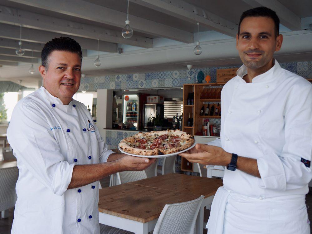 Claudio De Siena ed Emanuele Petrosino con la Pizza Star Autunno campano