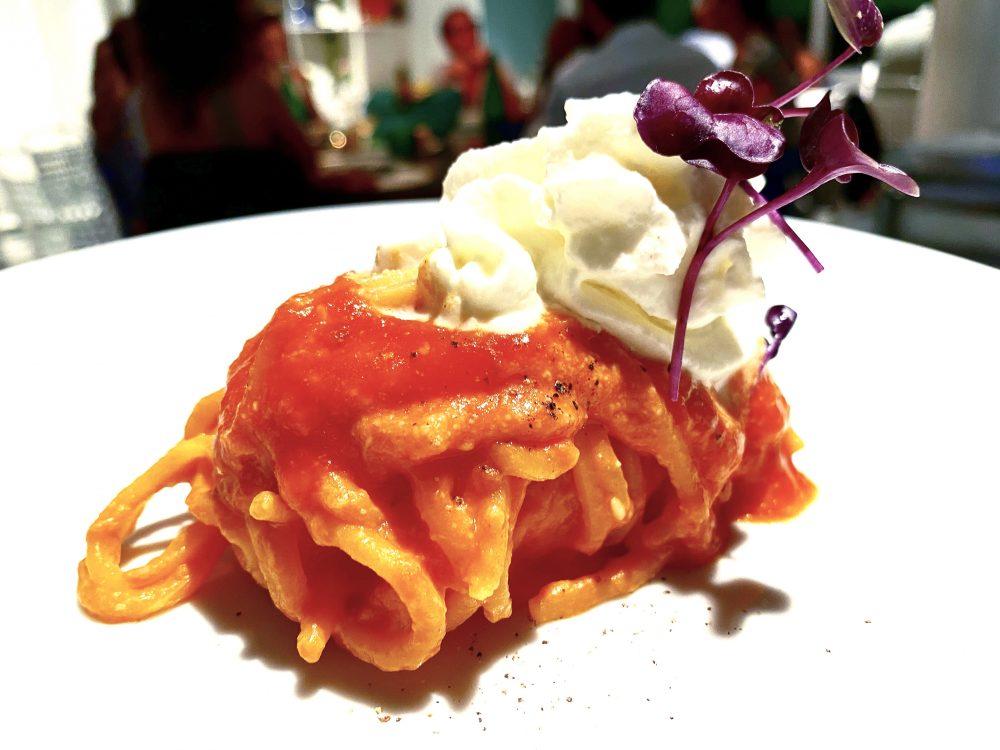 D'Amore, Lo Spaghettone alla Caprese