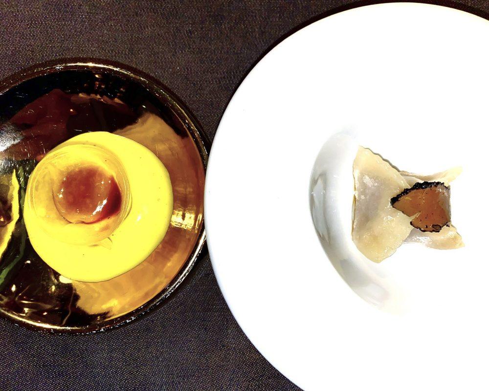 Gong, Omaggio a Milano e Raviolo di Wagyu A-5